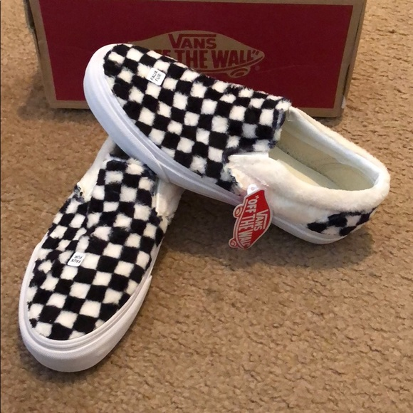 e715786f6d5 Sherpa Checkerboard Classic Slip On Vans